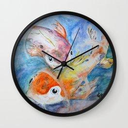 Garrett Browning playful koi Wall Clock