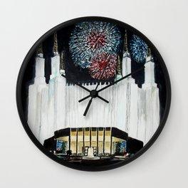 Washington DC LDS Temple Fireworks Wall Clock