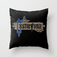 castlevania Throw Pillows featuring Castlevania by pixel.pwn | AK