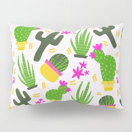 Cactus Pattern of Succulents Pillow Sham