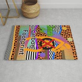ELIMINATE THE CARBON FOOTPRINT Design Illustration Pattern Advocate Slogan Rug