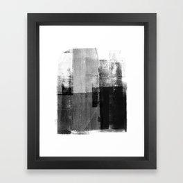 Black and White Minimalist Geometric Abstract Framed Art Print