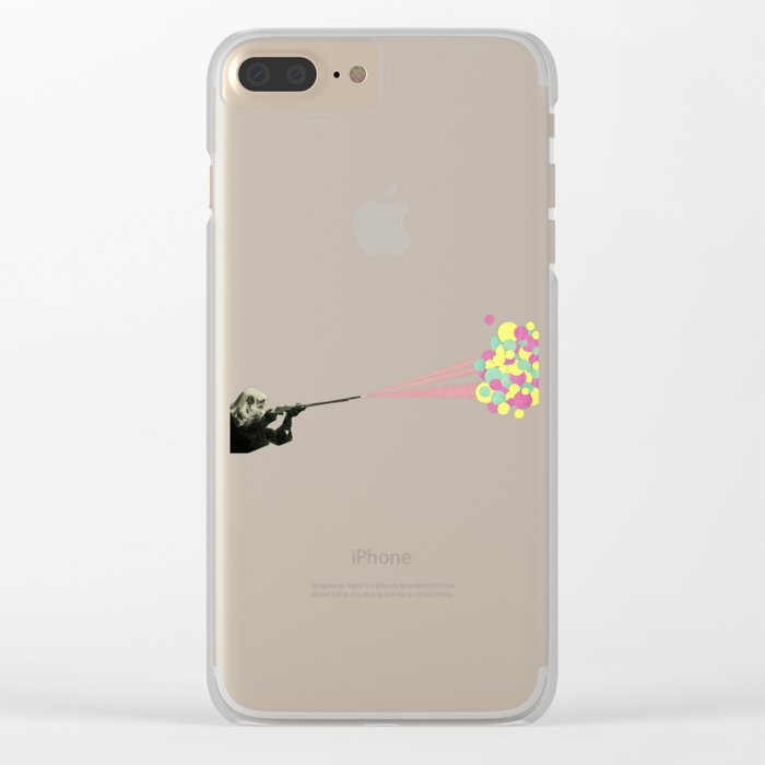 Water Fight Clear iPhone Case