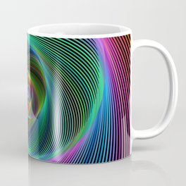 Psychedelic Spiral Stripes Coffee Mug