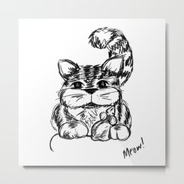 Unlikely Friends :: Cat & Mouse Metal Print