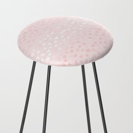 Hearts in light pink Counter Stool