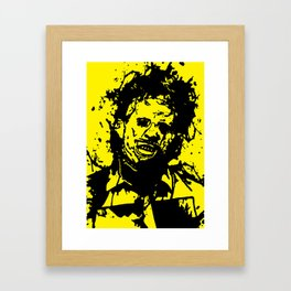 August 18, 1973: Bloodstain Leatherface (color combination N) Framed Art Print