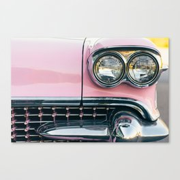 Pink Cadillac (front) Canvas Print