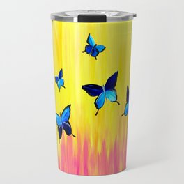 Butterflies and Vivid Sundrenched Colors Travel Mug