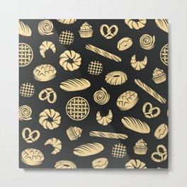 bakery pattern Metal Print