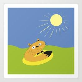 Sunbeam Attack Art Print