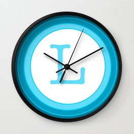 Blue letter L Wall Clock