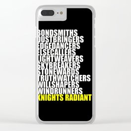 knights radiant Clear iPhone Case