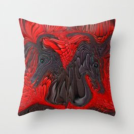 SONNY AND SHER...SHOWTIME Throw Pillow