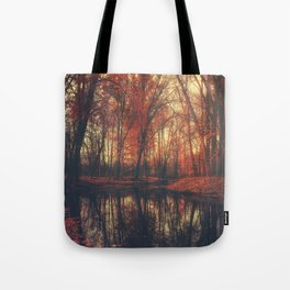 Where are you? Autumn Fall - Autumnal forest Tote Bag