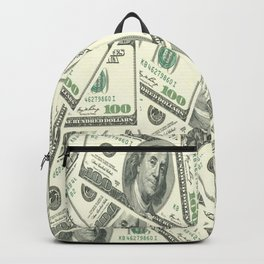 Money One Hunderd Dollar Bills Cash Millionaire Backpack