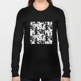 Pine Tree Shadows by Lorloves Design Long Sleeve T-shirt