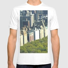 New York Central Park  White SMALL Mens Fitted Tee