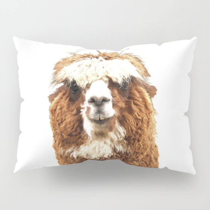 Alpaca Portrait Pillow Sham