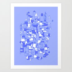 Floating Village Art Print