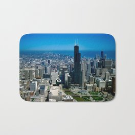 Chicago City Skyline Bath Mat