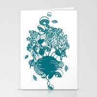 vegetables Stationery Cards featuring Vegetables  by Sarah Dennis