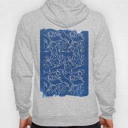 Dachshund Cyanotype Hoody