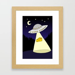 I Love Cheese Framed Art Print