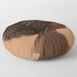 Black Hair Floor Pillow