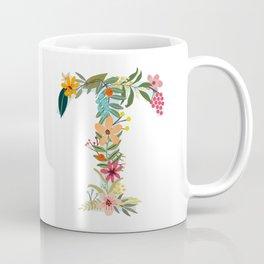 Monogram Letter T Coffee Mug