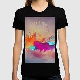 Colored London skyline T-shirt