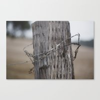 the wire Canvas Prints featuring wire  by Stephanie Dana