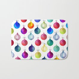 Merry Colorful Xmas Bath Mat