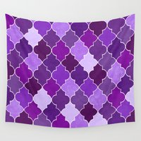 morocco Wall Tapestries featuring Morocco Orchid by Jacqueline Maldonado
