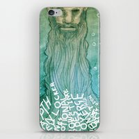 beard iPhone & iPod Skins featuring Beard by Lee Grace Illustration