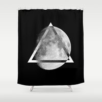 swag Shower Curtains featuring LUNAR SWAG  by Maioriz Home