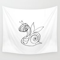 snail Wall Tapestries featuring Snail. by sonigque