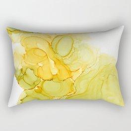 Green & Yellow Ink Composition Rectangular Pillow