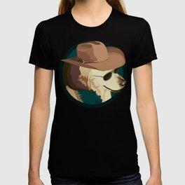 Golden Retriever in a Cowboy Hat T-shirt