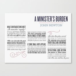 A Minister's Burden - sized Canvas Print