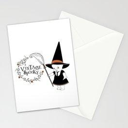 Vintage Spooky Kewpie Witch Stationery Cards