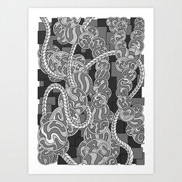 Wandering 43: grayscale Art Print