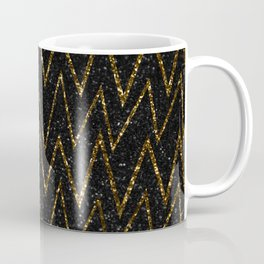Elegant gold chevron #2 Coffee Mug