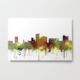 Lubbock, Texas Skyline - Safari Buff Metal Print