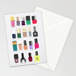 My nail polish collection art print Stationery Cards
