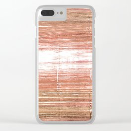 Tumbleweed abstract watercolor Clear iPhone Case