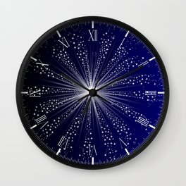 Exploding Sky Rocket Wall Clock