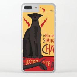 d'Electricité Statique Chat [Staticat] Clear iPhone Case