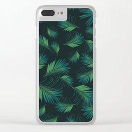 Tropical Night Palms Pattern #1 #tropical #decor #art #society6 Clear iPhone Case