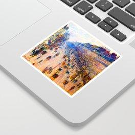 Camille Pissarro Boulevard Montmartre Winter Sticker
